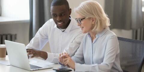 Curtin accounting student with client
